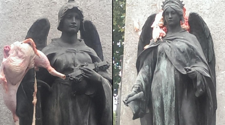 Edward VII statue vandalized with raw meat, fears of anti-Semitic attack
