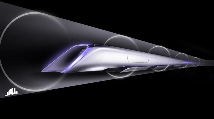 Hyperloop passenger transport capsule conceptual design rendering. © teslamotors.com