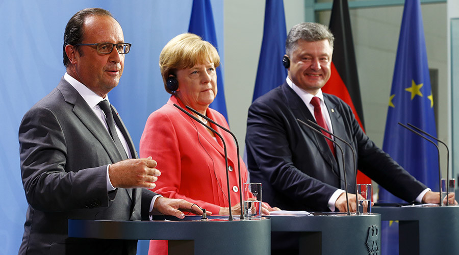 'Minsk peace deal on Ukraine must be respected' – Merkel after talks with Poroshenko