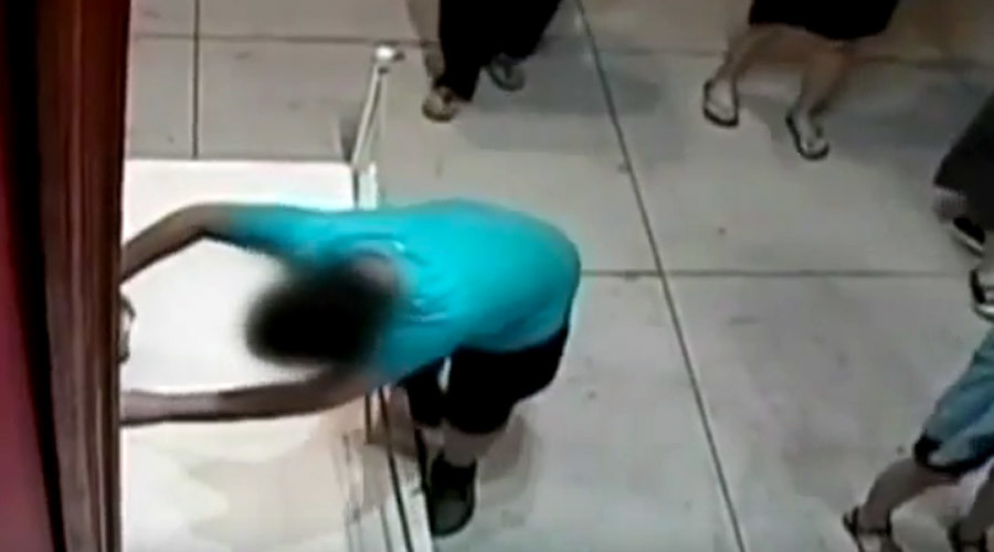 Taiwanese boy unwittingly 'punches' hole through $1.5mn painting (VIDEO)