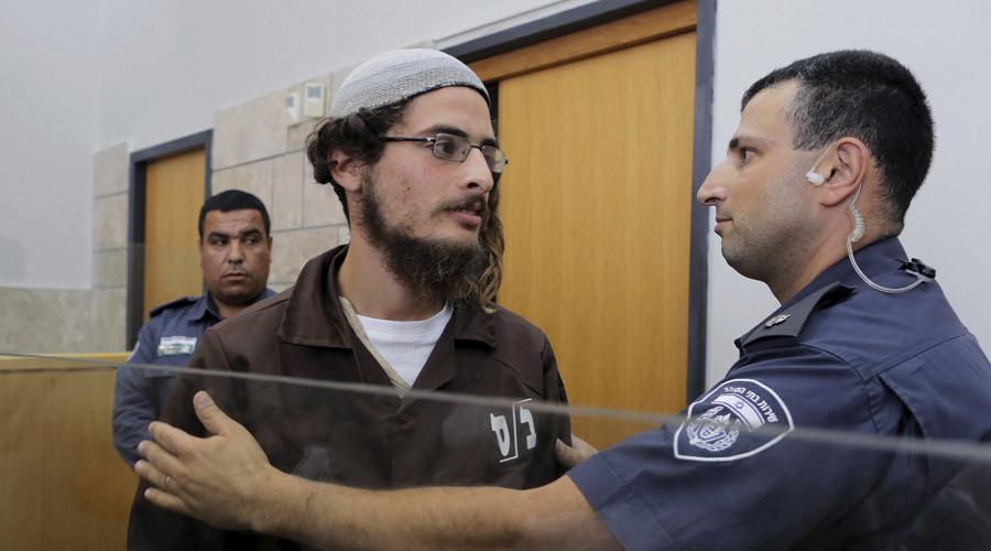 Far-right activist Meir Ettinger (C)  © Ammar Awad
