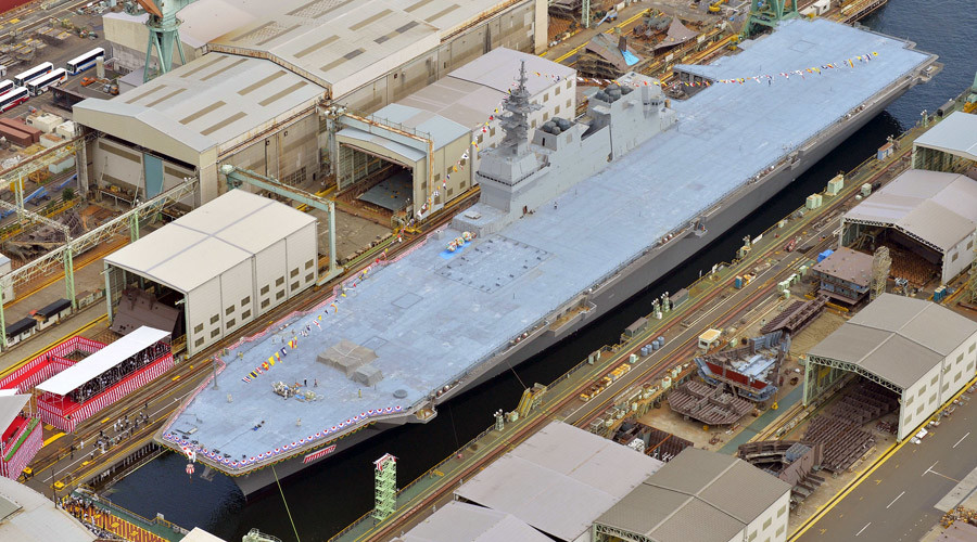 Japan Maritime Self-Defense Force's new helicopter destroyer DDH184 Kaga. © Kyodo