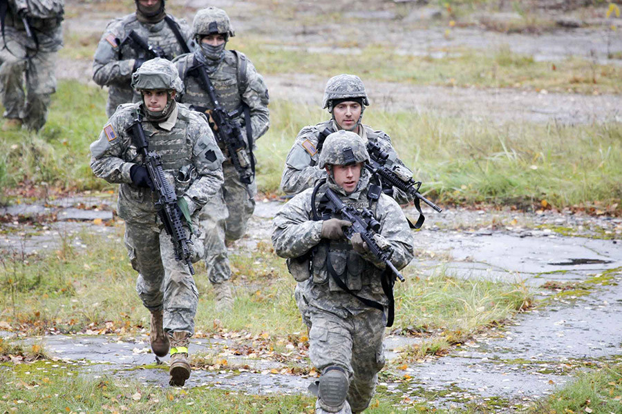 U.S. Army soldiers train during an exercise at the Adazi Training Area, Latvia. © U.S. Army / Sgt. Stephen A. Gober