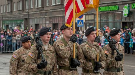 US soldiers  in Narva, Estonia. © Raigo Pajula
