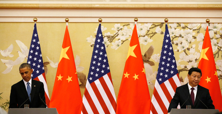 U.S. President Barack Obama (L) and Chinese President Xi Jinping © Kevin Lamarque