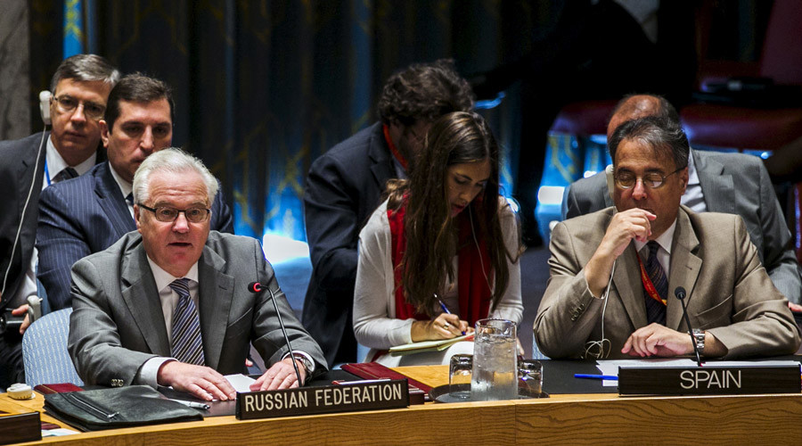 Russian ambassador to the United Nations, Vitaly Churkin © Lucas Jackson