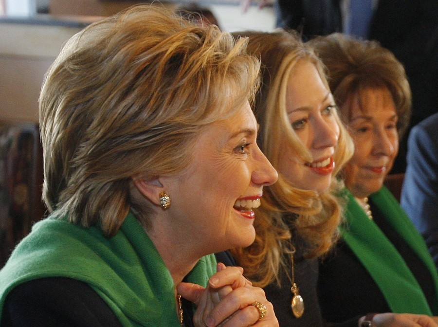 Hillary Clinton, daughter Chelsea and mother Dorothy Rodham