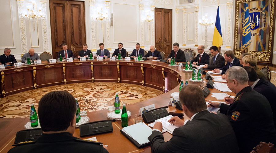 Meeting of the Ukrainian National Security and Defense Council in Kiev. © Mikhail Palinchak
