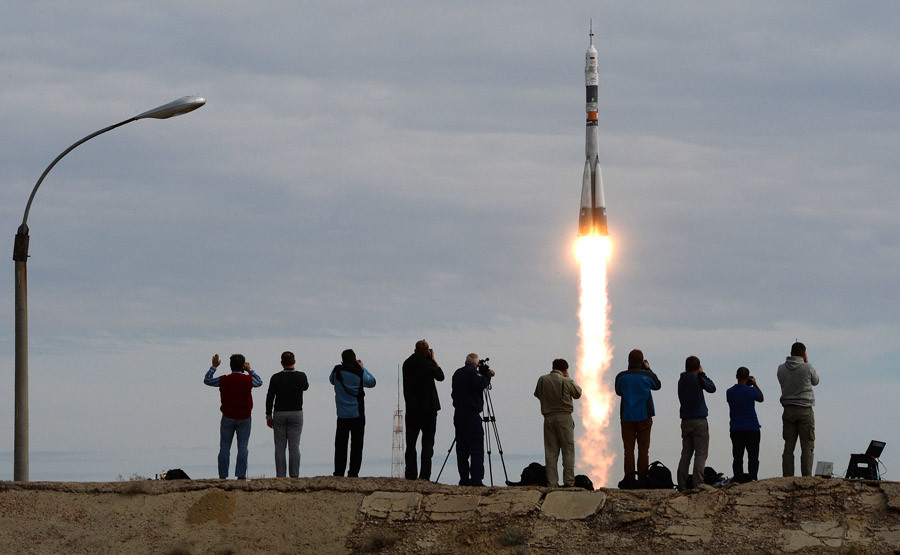 09/02/2015 Soyuz TMA-18M launches from Baikonur Cosmodrome to take the long-duration expedition 45/46 to the International Space Station. © Alexey Filippov