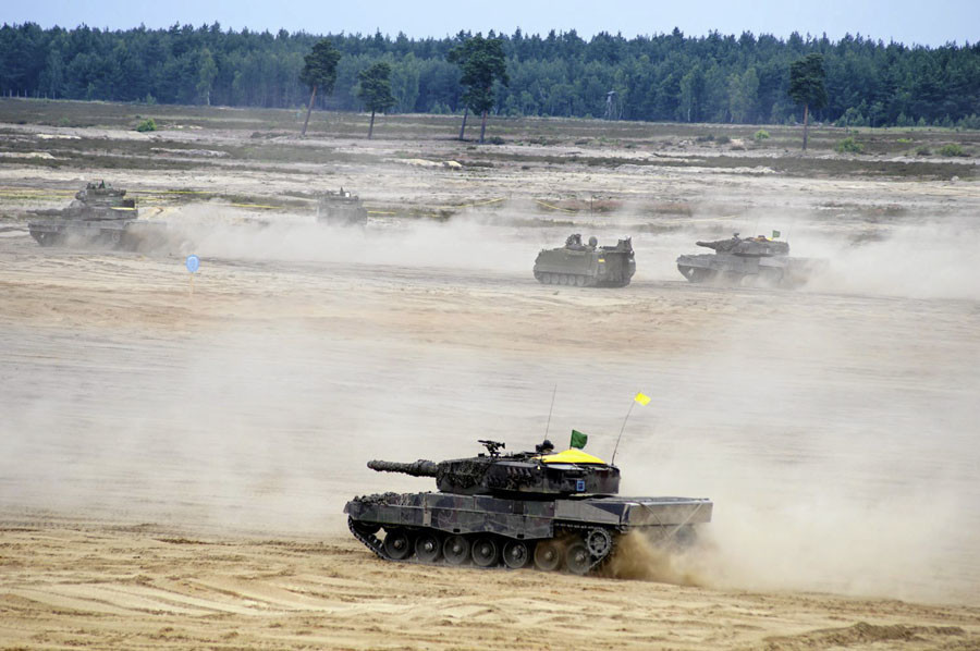 Units from NATO allied countries take part in the NATO Noble Jump 2015 exercises, part of testing and refinement of the Very High Readiness Joint Task Force (VJTF) in Swietoszow, Poland June 18, 2015. © Anna Krasko / Agencja Gazeta