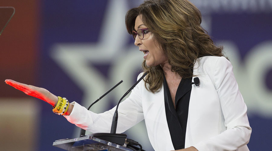 'You want to be in America, speak American,' Sarah Palin tells immigrants
