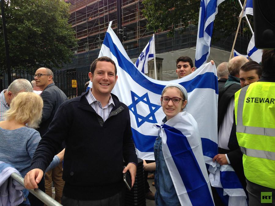 Pro-isreael supporters © Poppy Bullard
