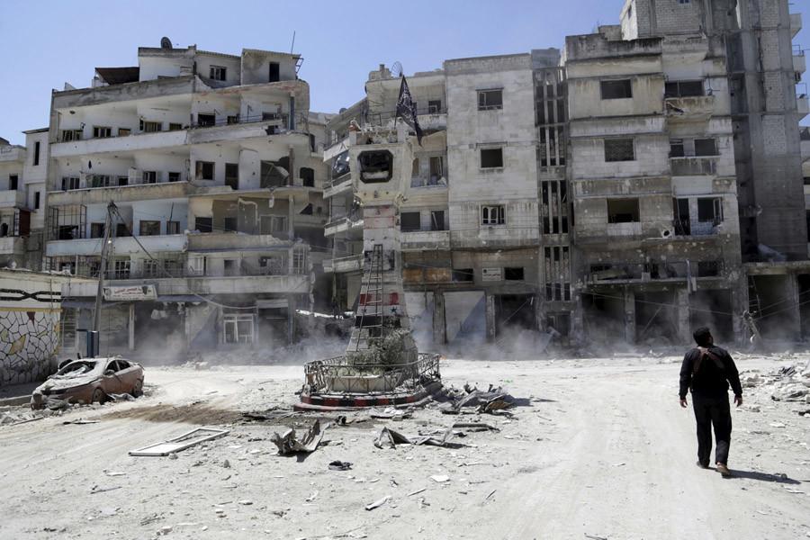 Jisr al-Shughour town, April 26, 2015. © Khalil Ashawi