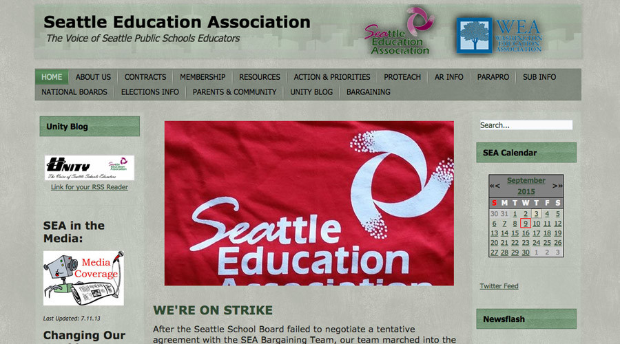Screenshot from seattlewea.org
