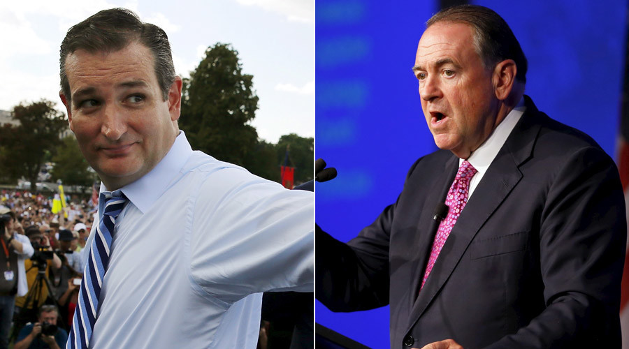 Cruz accused of 'party crashing' Huckabee's Kim Davis rally