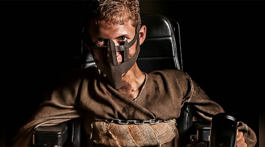Shiny and chrome: College student turns his wheelchair into impressive 'Mad Max' cosplay