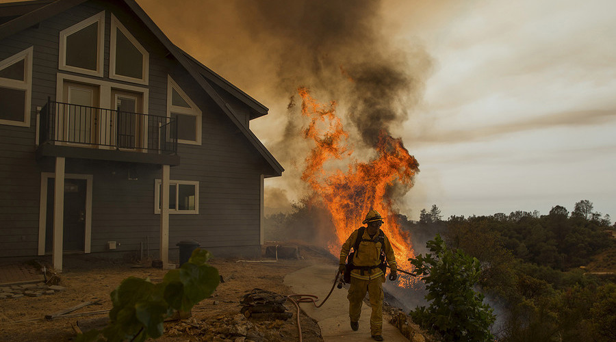 Evacuations as California wildfire burns 65,000 acres, threatens 6,000 structures