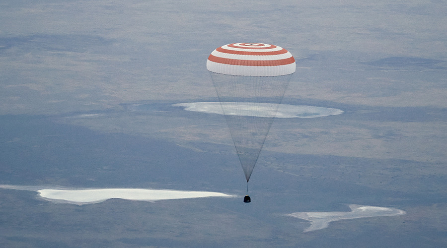 Russian cosmonaut sets new space record, lands with two first-timers in Kazakhstan (PHOTOS)