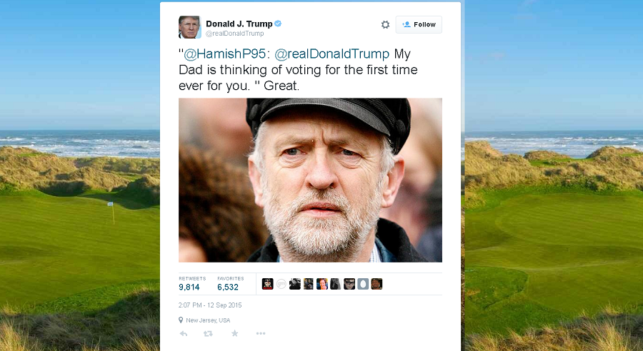 Screenshot from Twitter / @realDonaldTrump