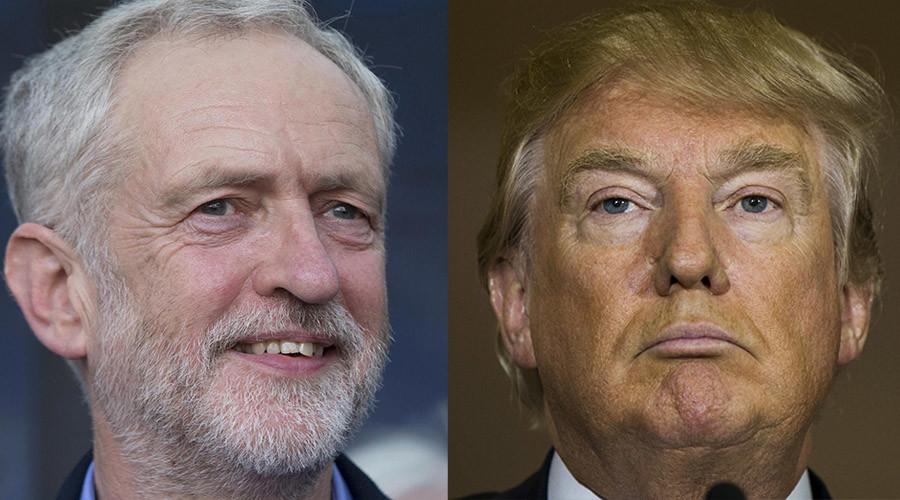 Jeremy Corbyn and U.S. presidential hopeful Donald Trump © Neil Hall, Lucas Jackson