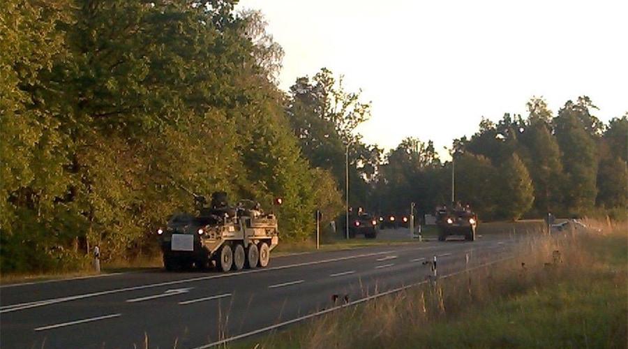 US 'Dragoon Crossing' convoy kicks off its controversial tour in E. Europe (PHOTOS, VIDEOS)