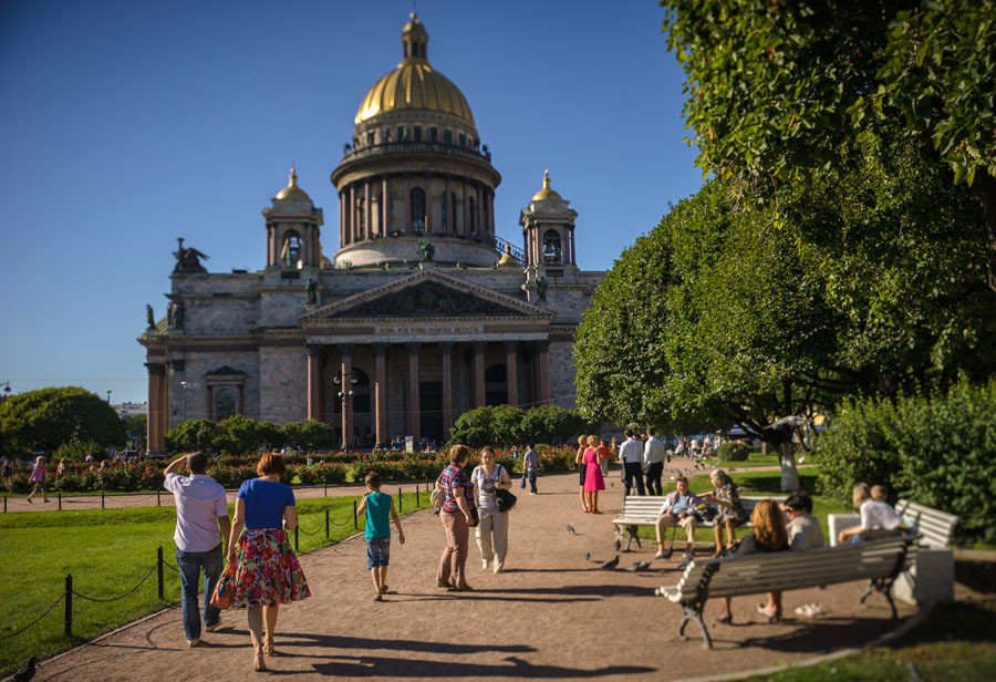 Saint Isaac's Cathedral in St. Petersburg. © RIA Novosti