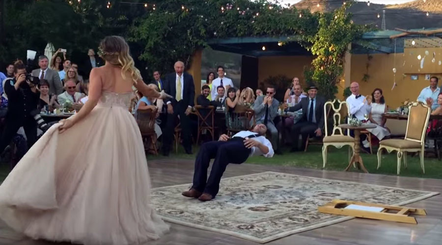 Love spell: Bride makes magician husband 'levitate' during first dance (VIDEO)