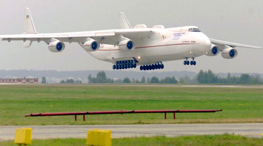 World's largest aircraft Ukrainian made Antonov-225 Mriya cargo plane. © Gleb Garanich