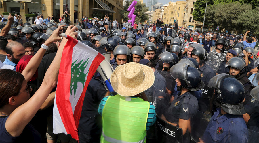Clashes as #YouStink protesters try to surround Beirut parliament building (PHOTOS, VIDEOS)