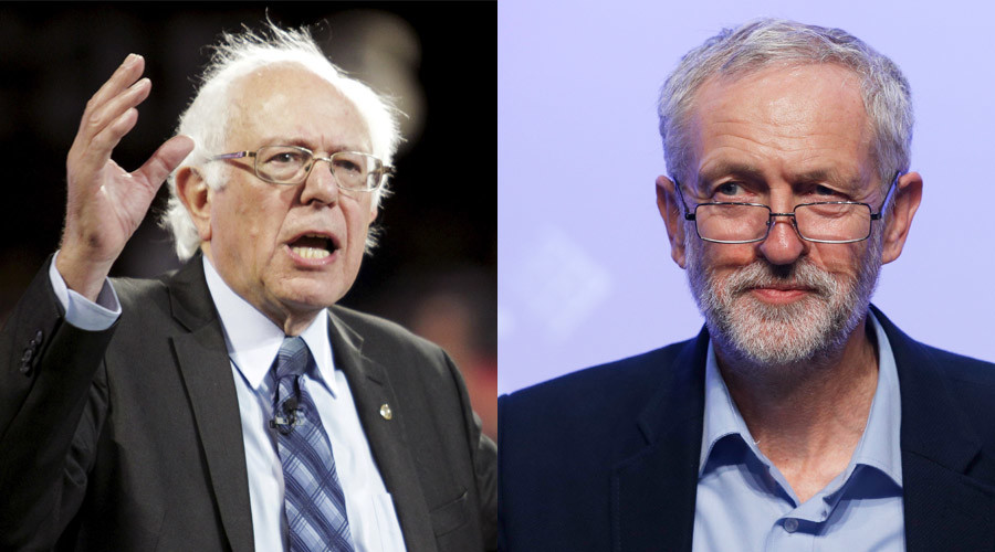 U.S. Democratic presidential candidate Sen. Bernie Sanders and the new leader of Britain's opposition Labour Party Jeremy Corbyn © Jay Paul, Peter Nicholls