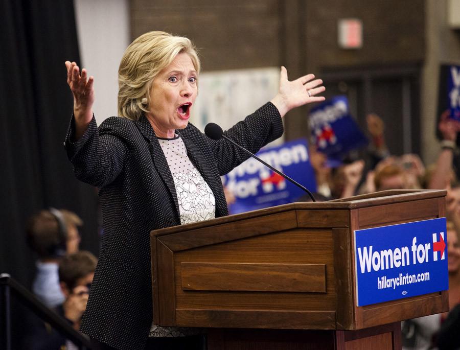 Democratic presidential candidate Hillary Clinton © Darren Hauck