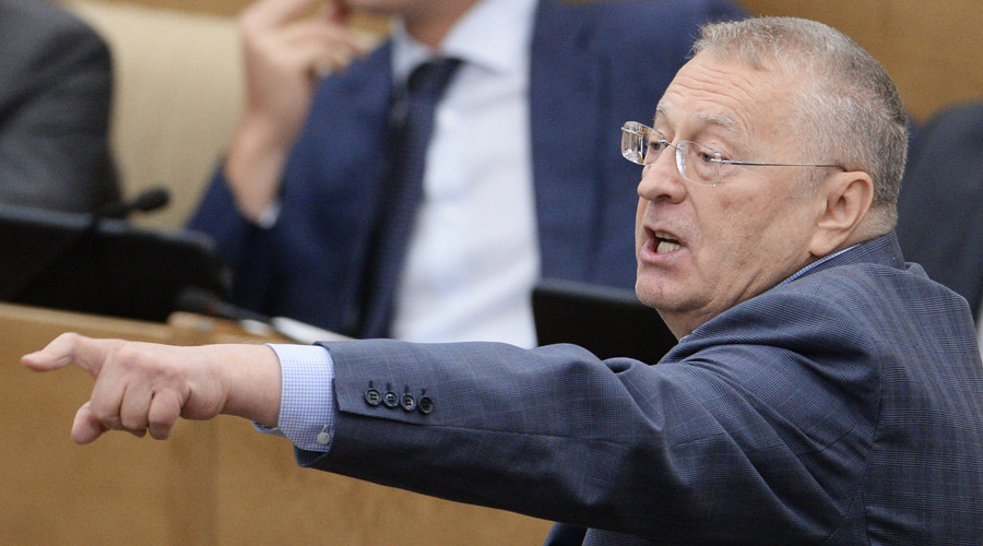 Liberal Democratic Party leader Vladimir Zhirinovsky speaks at a State Duma plenary session. © Vladimir Fedorenko