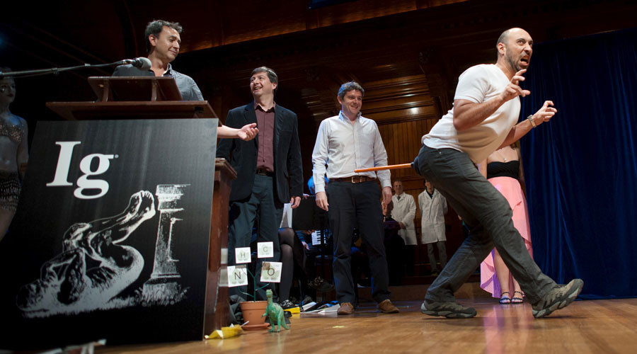 Huh? Ig Nobel prizes go to un-boiled eggs, bee-stung penises & dinosaur-tailed chickens