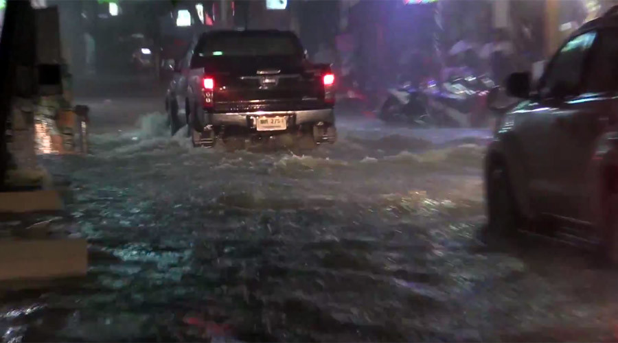 'Disaster zone' in Thai Pattaya: Dramatic footage reveals scale of tropical storm aftermath