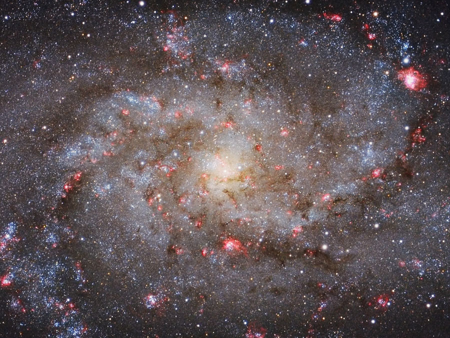 M33 Core © Michael van Doom / INSIGHT ASTRONOMY PHOTOGRAPHER OF THE YEAR AT THE ROYAL OBSERVATORY GREENWICH