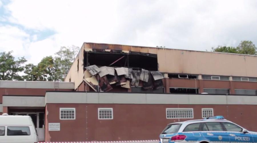 'No more refugees': Arson attack destroys future German migration center (VIDEO)