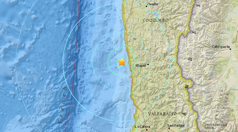 Probable magnitude 6.3 quake strikes offshore Coquimbo, Chile