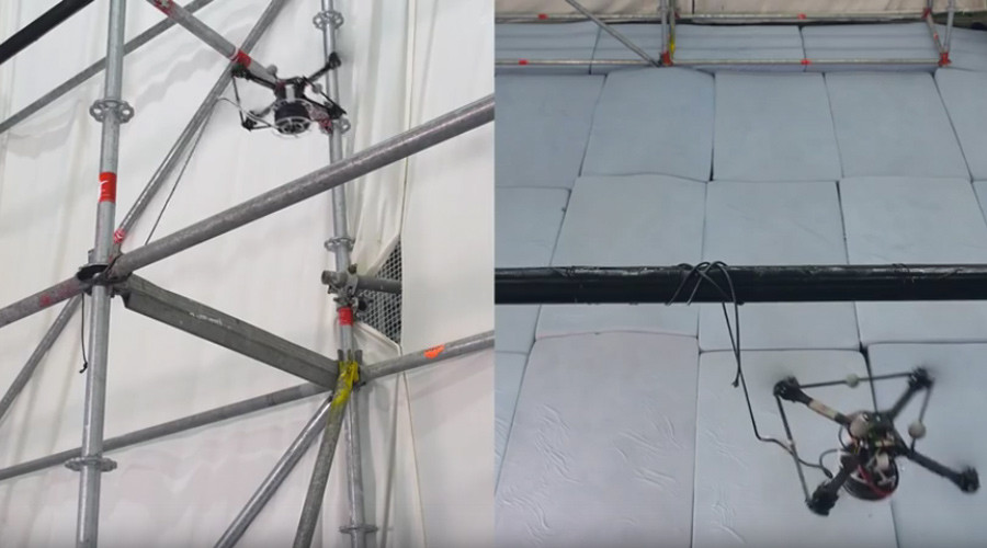 Crossing gaps: Drones can build rope bridges all by themselves (VIDEO)