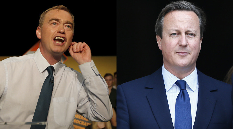 Hamming it up: Liberal Democrats mock 'Cameron's Pig' at conference sing-along