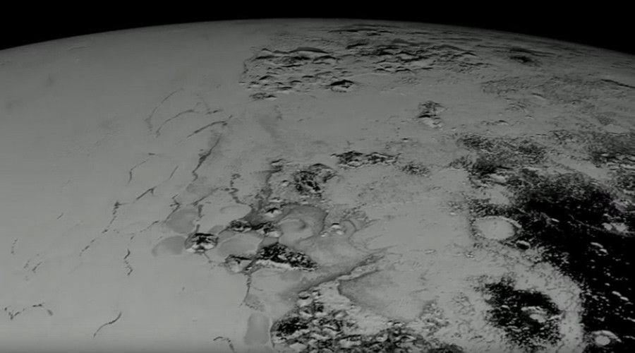 Space safari: Stunning tour over Pluto's icy terrain (VIDEO)