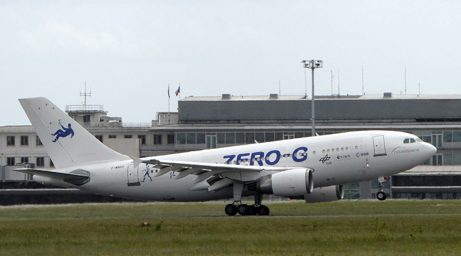 A new plane of European planemaker Airbus, the Airbus A-310, dedicated to parabolics Zero-G flights © Jean-Pierre Muller