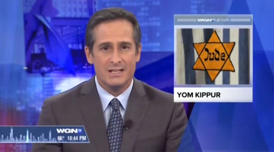 Happy… Holocaust?! TV station uses Nazi graphic for Jewish holiday