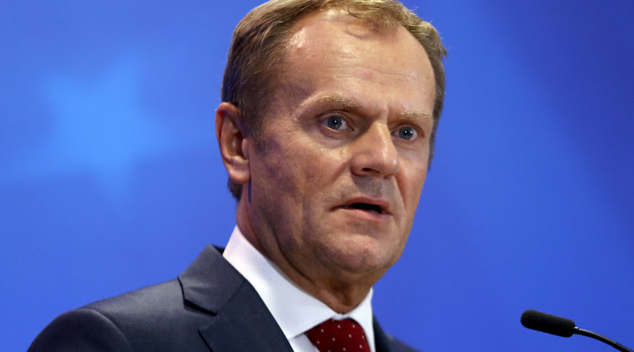 European Council President Donald Tusk addresses a news conference after a European Union leaders extraordinary summit on the migrant crisis in Brussels, Belgium September 24, 2015. © Francois Lenoir