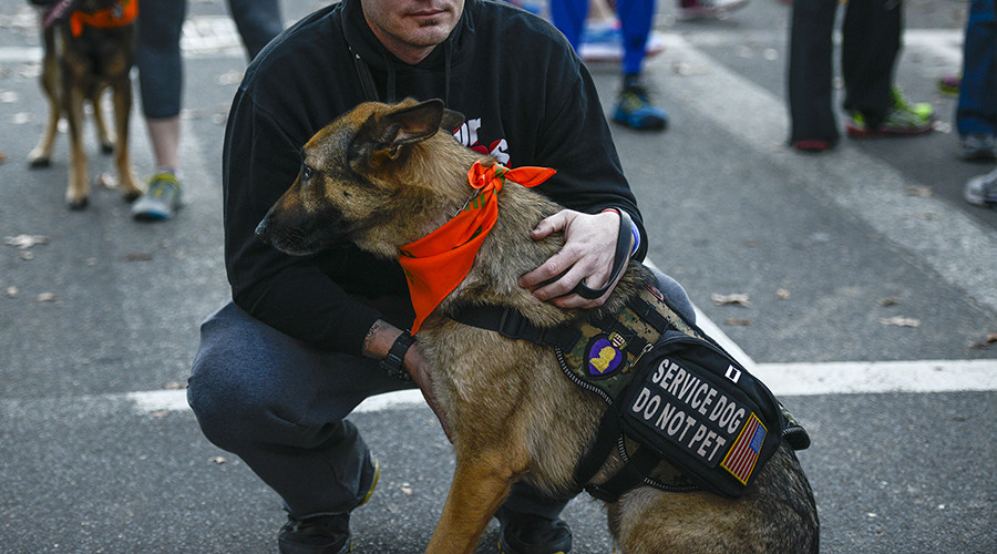 Airline apologizes for preventing wounded vet from boarding flight with service dog