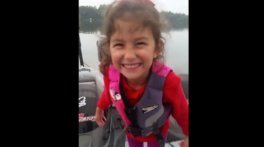 'Oh My Gosh!': 5yo girl catches huge fish with Barbie fishing rod (VIDEO)