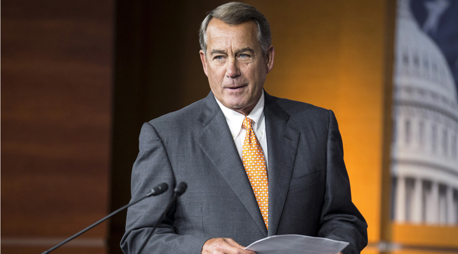 Ohio Republican John Boehner announced he would resign as Speaker of the House © Joshua Roberts