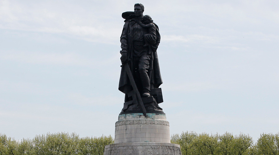 Russian social media seethes as BBC describes Soviet WWII monument as 'memorial to unknown rapist'