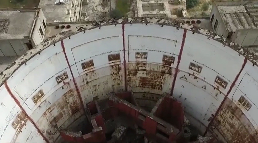 Drone captures rare footage of abandoned Chernobyl-era nuclear plant in Crimea (VIDEO)
