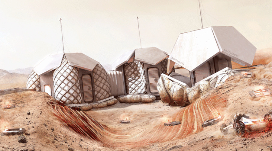 Design for 3D printed Mars base unveiled
