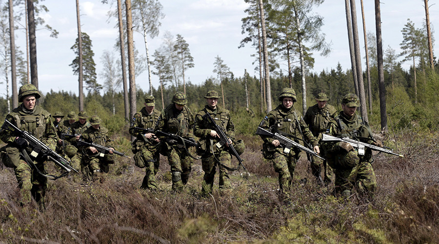 Estonian soldiers take part in NATO military exercise Hedgehog 2015 at the Tapa training range in Estonia © Ints Kalnins